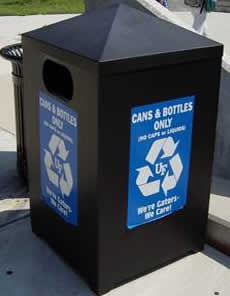 Cans and Bottles Recycling Bins