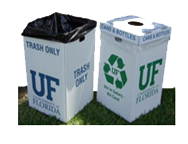 Box and liner waste receptacle