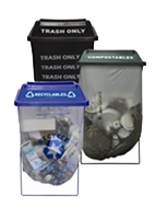 Clear Stream Waste Receptacle